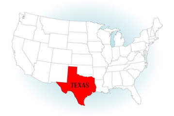 State Highlited Texas