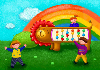 Illustration of childhood