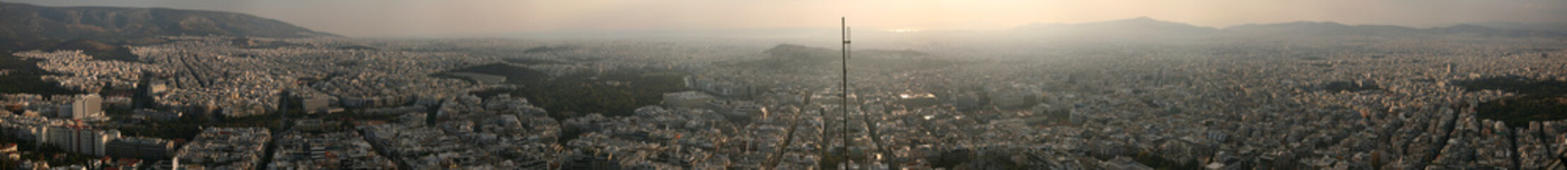 Panorama of Athens from Mount Lycabettus.