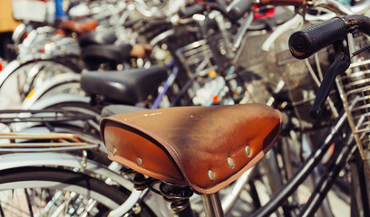 bike seat - soft focus with vintage film filter