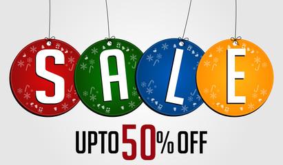 Christmas Sale Banner 50% off