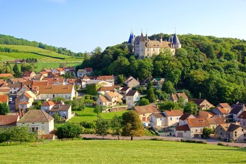 Village of Rochepot and its medieval castle, Burgundy, France