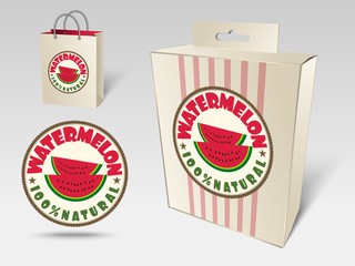 Watermelon label concept