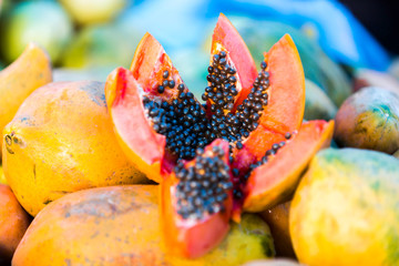Delicious Papaya from a Local Market in Manaus, Brazil