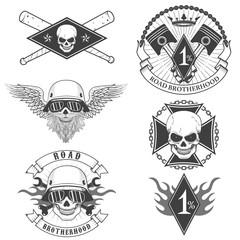 biker labels
