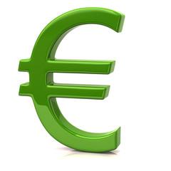 Green Euro sign