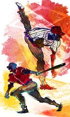 Canvas Prints Art Studio Illustration of sports