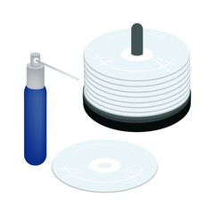 CD or DVD with A Cleaning Solution