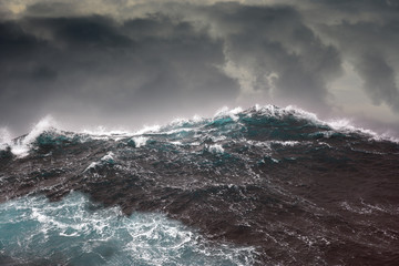 ocean wave during storm in the atlantic ocean