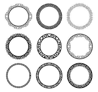 vector circle frame set
