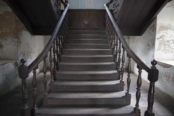 Stairway interior in old fireman station