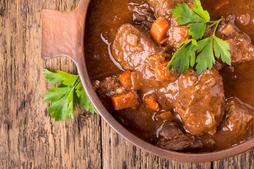 Beef stew with carrot.