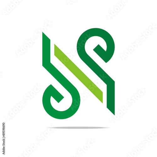 Logo Abstract Letter G Love Combination N Design Element Symbol Icon
