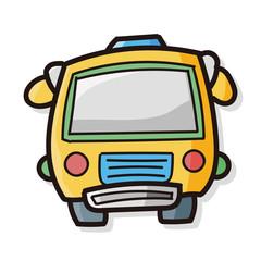 school bus color doodle