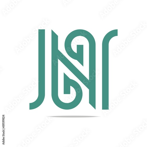 Logo Abstract Letter G Green Combination N Design Element Symbol
