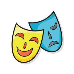 opera mask doodle
