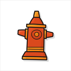 Fire hydrant color doodle