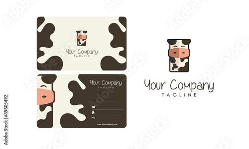 Cow business card and logo stock image and royalty free vector cow business card and logo colourmoves