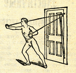 Home gym equipment from the 1900s