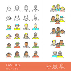 Families icons set