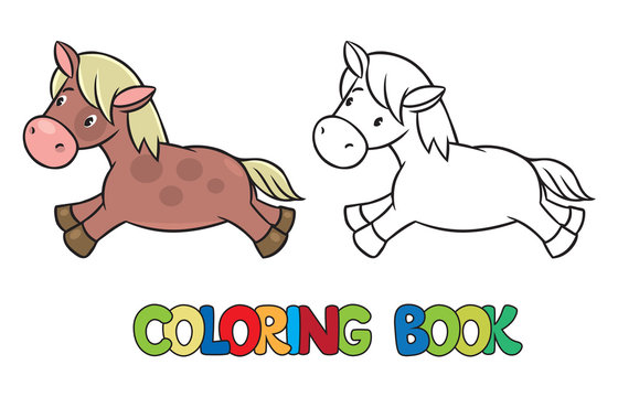 Little horse or pony coloring book