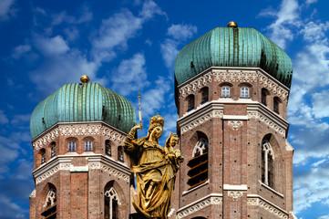 Frauenkirche München Mariensäule sehenswürdigkeit