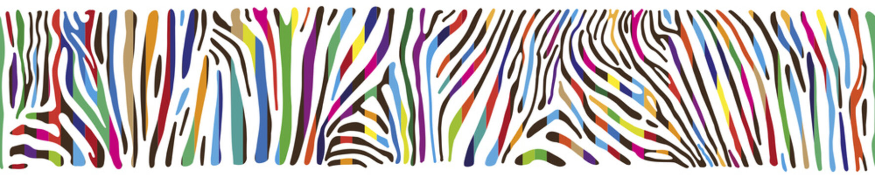 Background with multicolored Zebra skin
