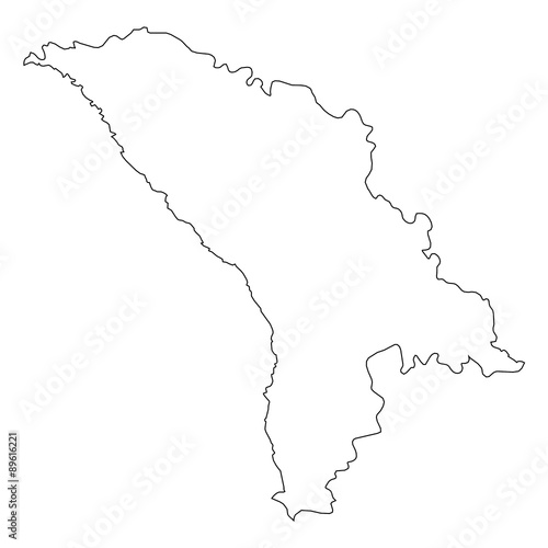 High Detailed Outline Of The Country Of Moldova Stock Photo And - Moldova map outline
