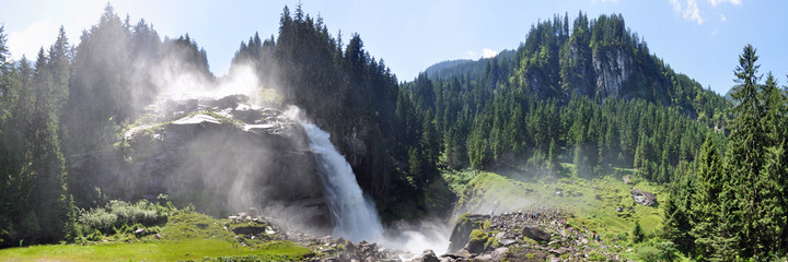 Panoramafoto Krimmler Wasserfälle