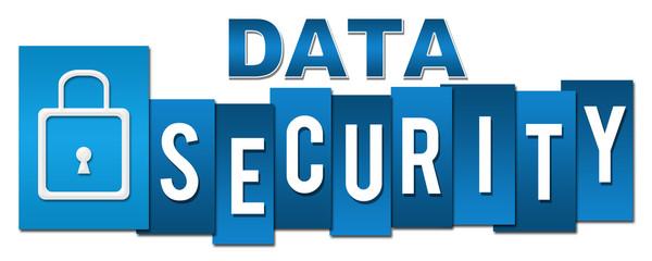 Data Security Lock Blue Stripes