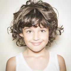 Retrato de niña sonriente