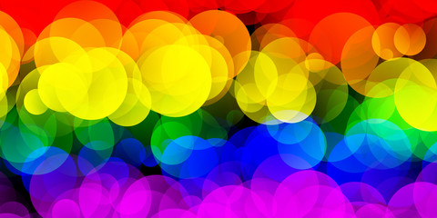LGBT Flag With Gradient Circle Effect