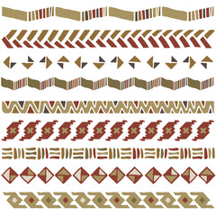 African geometric ornament; vector seamless