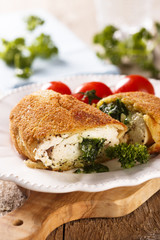 Chicken Kiev with wild garlic