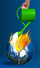 Fototapeta the earth burns obraz