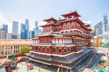 Fotobehang Singapore The Buddha Tooth Relic Temple in Singapore