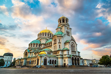 Printed kitchen splashbacks Eastern Europe St. Alexander Nevski Cathedral in Sofia, Bulgaria
