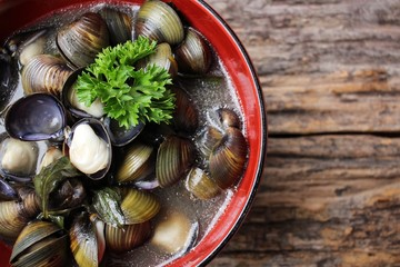 Clams soup