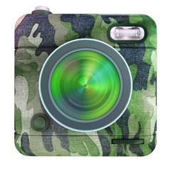 Camera icon camouflage