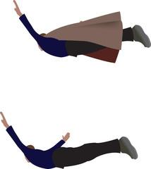 persona che salta e vola