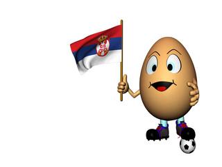 Uovo con la bandiera