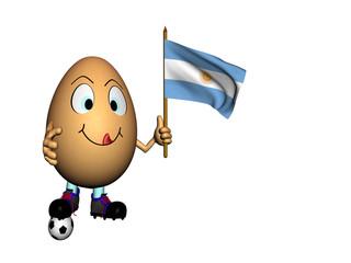 Uovo con bandiera argentina