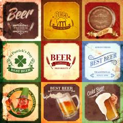 vintage banner beer