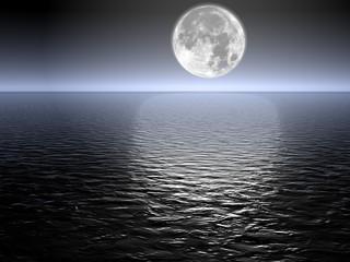 Foto op Aluminium Volle maan luna piena