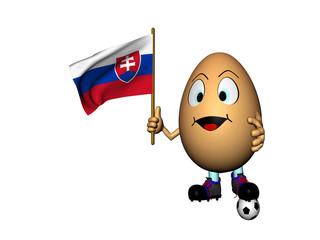 Uovo allegro con bandierina