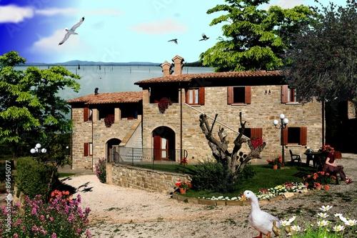 Casa dei sogni al lago immagini e fotografie royalty for Immagini di casa dei sogni gratis