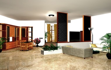 Sala da Pranzo con salotto