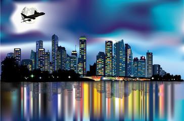 Panorama notturno urbano