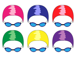 Swimming Caps in Different Colours