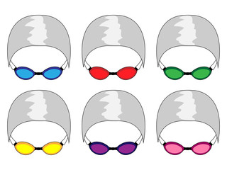 Swimming Goggles in Different Colours